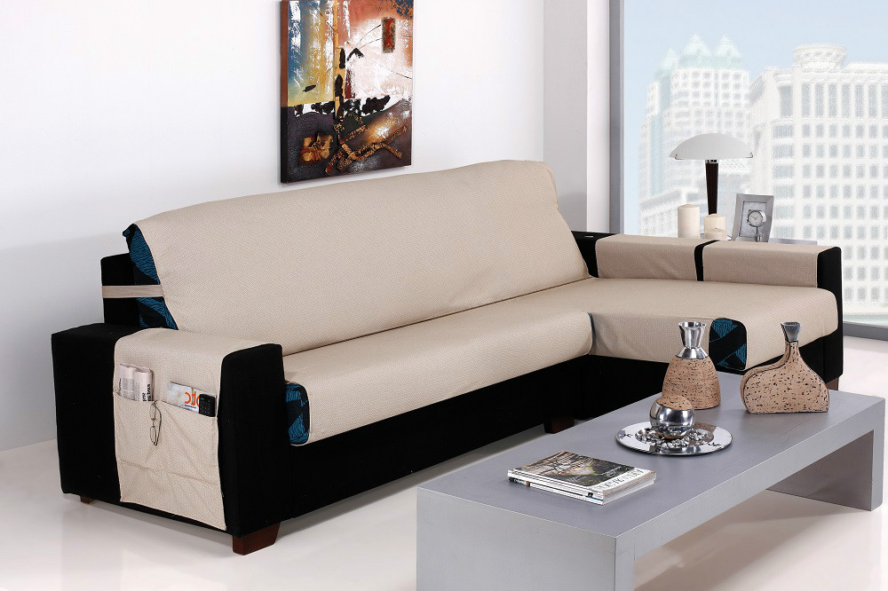 Funda sof chaise longue turia casaytextil - Funda de sofa chaise longue ...