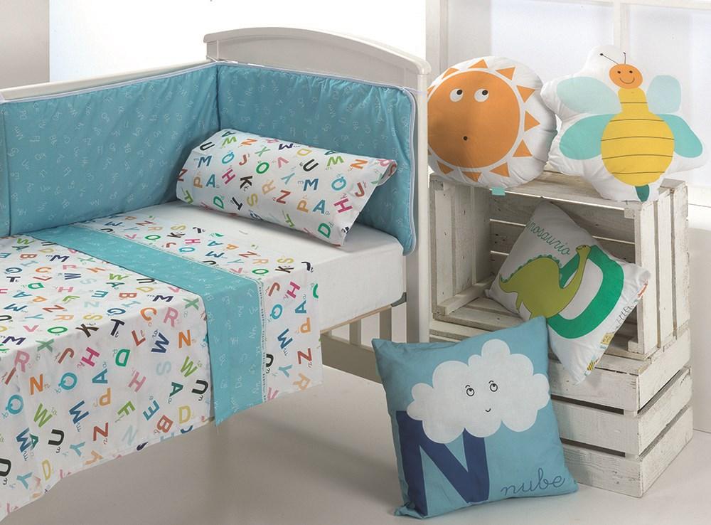Juego de s banas cuna abecedario cuadernos rubio casaytextil - Juego de cama para cuna ...