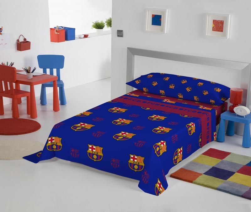 Juego de s banas de franela fc barcelona futsf02 casaytextil - Ropa de cama barcelona ...