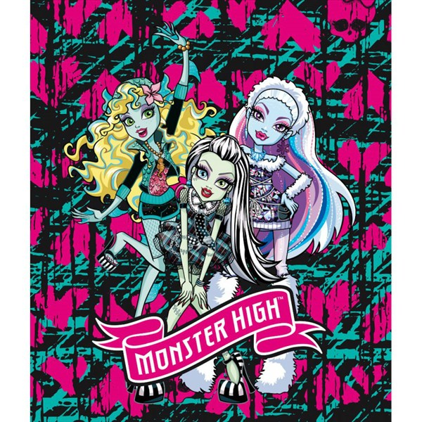 Manta polar Monster High Blue Hearth