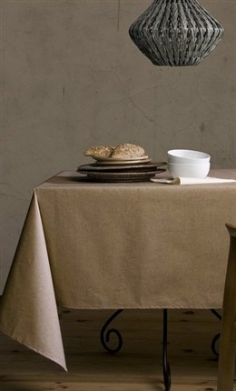 Mantel antimanchas Lino Natural Atenas | CasayTextil