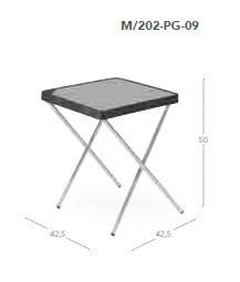 Mesa plegable aluminio camping m 202 p crespo casaytextil for Mesa plegable aluminio
