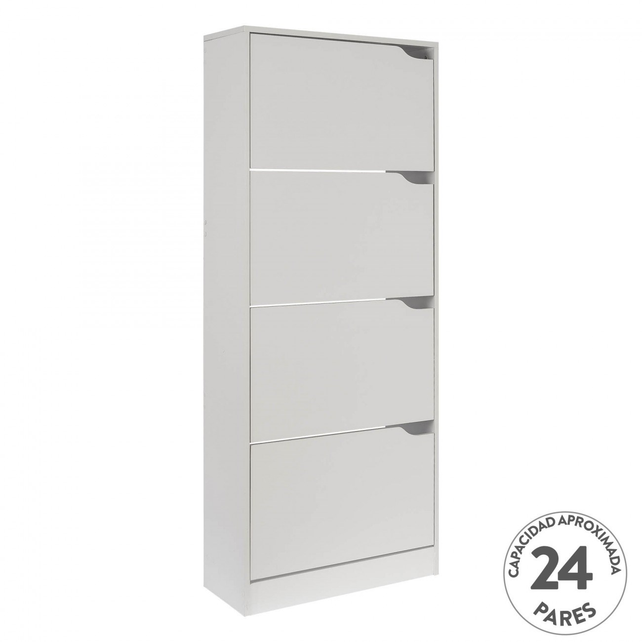 Mueble Zapatero Blanco Nordic 60x24x150 Blanco
