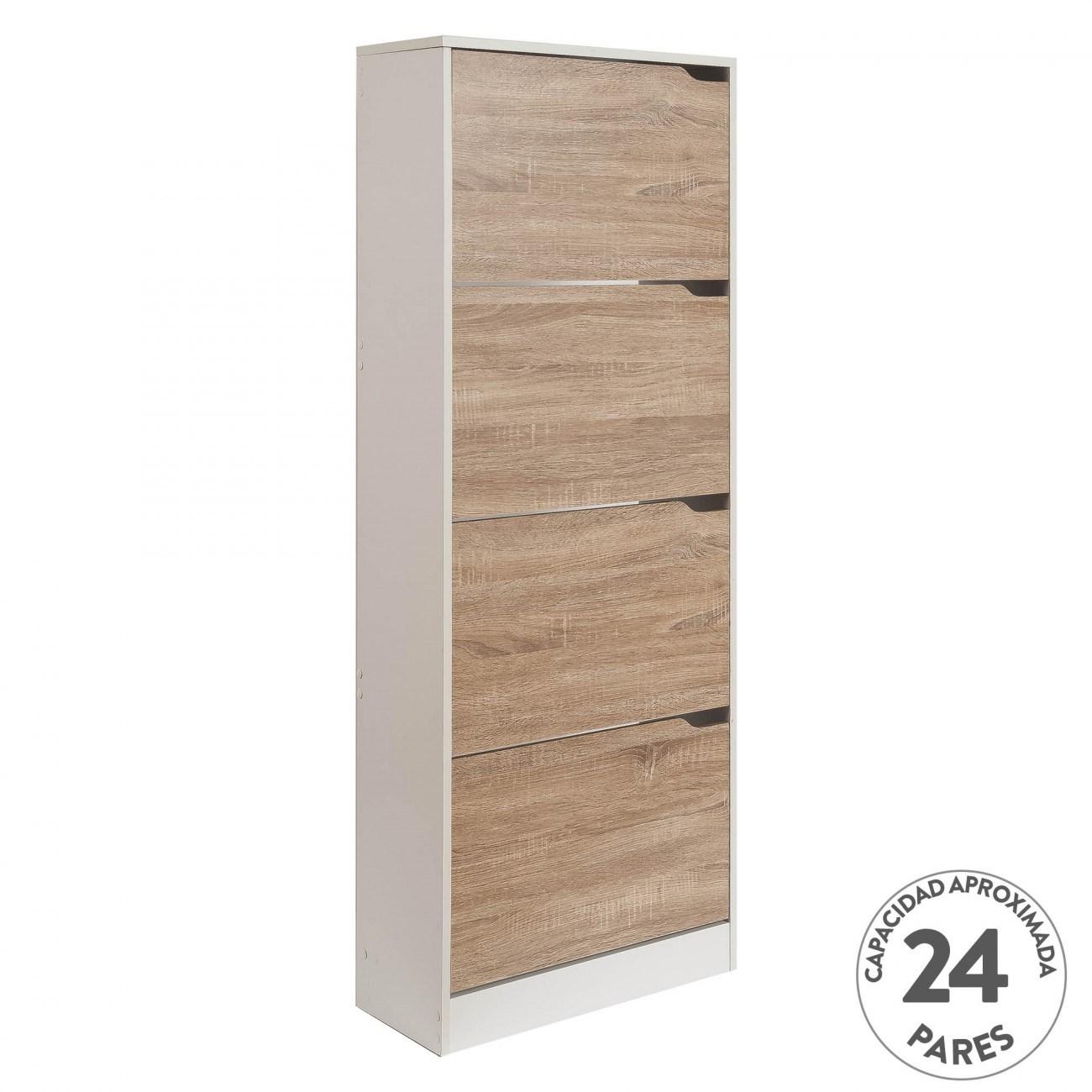 Mueble Zapatero Natural Nordic 60x24x150 1 Diseno