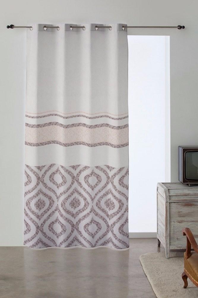 Pack de 2 cortinas ollaos lola beige casaytextil for Ollaos para cortinas