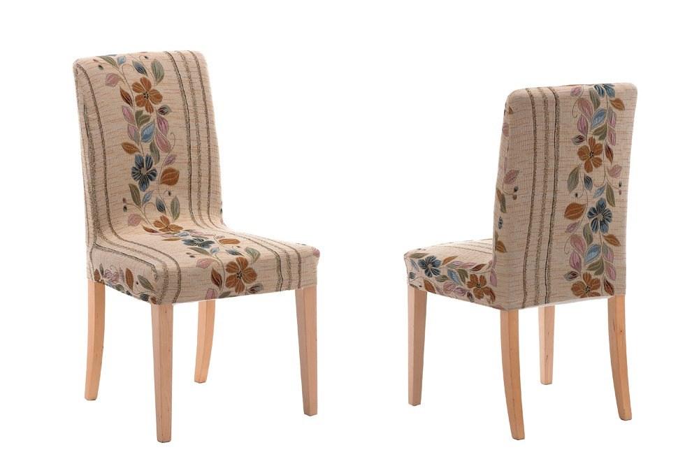Pack de 2 fundas de silla con respaldo thalia casaytextil for Sillas tapizadas estampadas