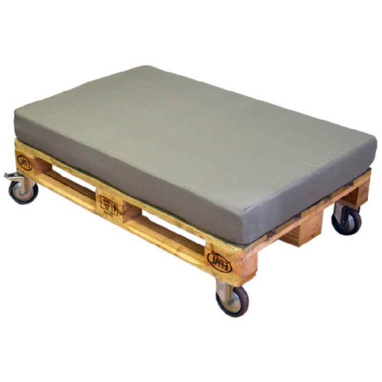 Palet puff con ruedas y dos almohadas casaytextil - Puff con ruedas ...