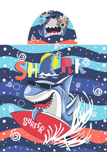 Poncho de playa Shark