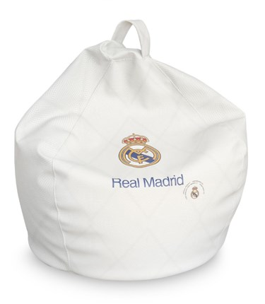 Puf pera Real Madrid Oficial blanco junior | CasayTextil
