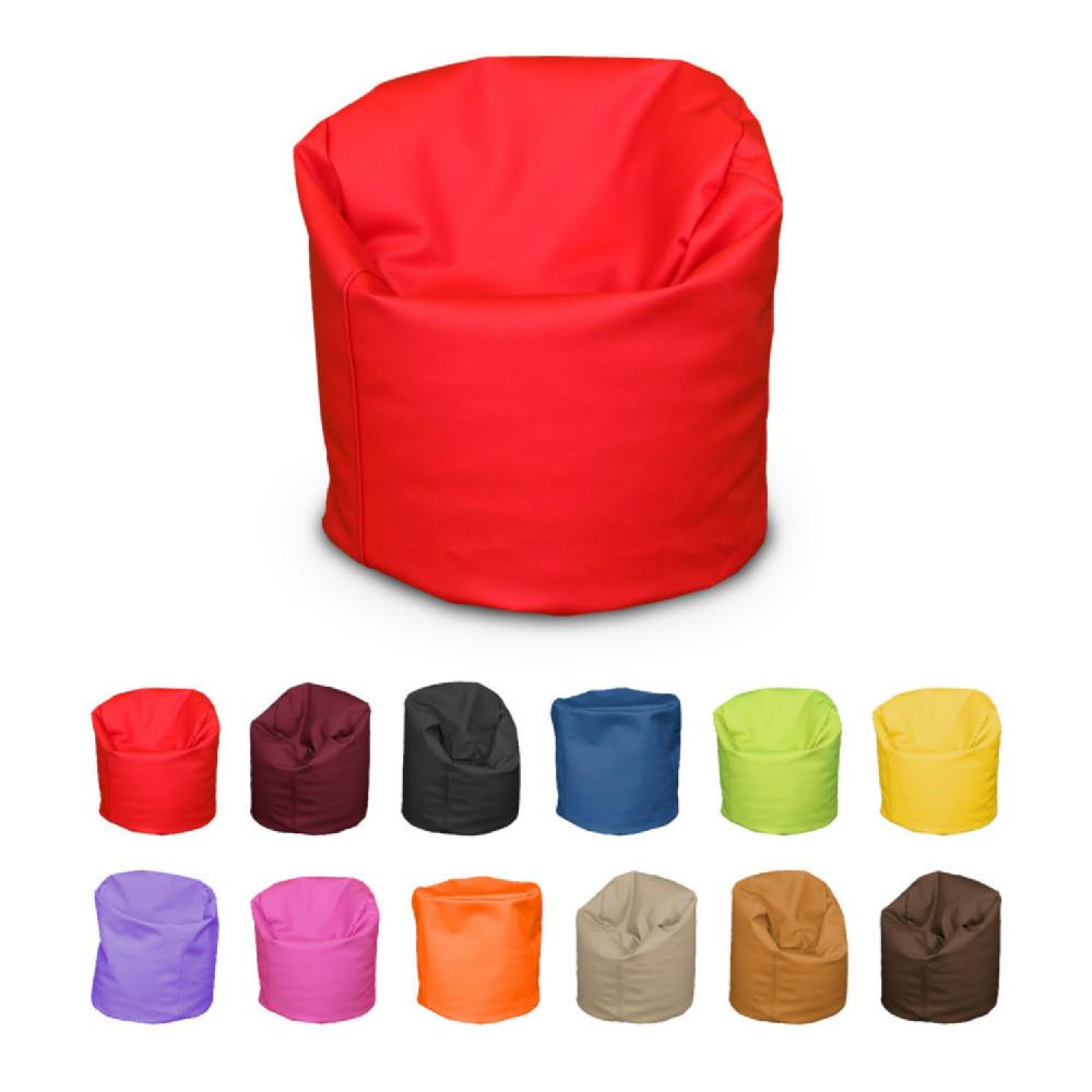 Puff Kids Polipiel Liso 18 Colores A Elegir Casaytextil # Muebles Puffs Baratos