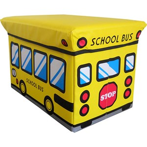 Puff plegable autobus estampado 48x31x31