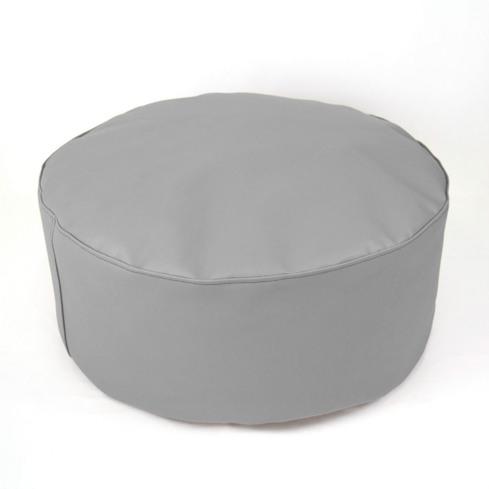 Puf taburete xl plata casaytextil - Puff para salon ...
