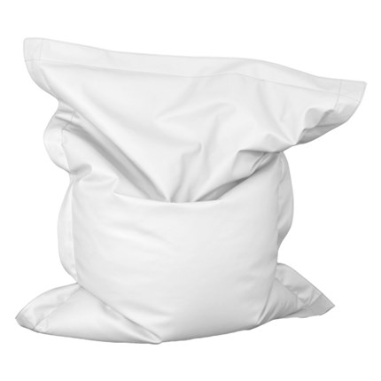 Very Big Puf blanco exterior | CasayTextil