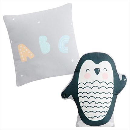 Set de 2 cojines decorativos Penguin | CasayTextil