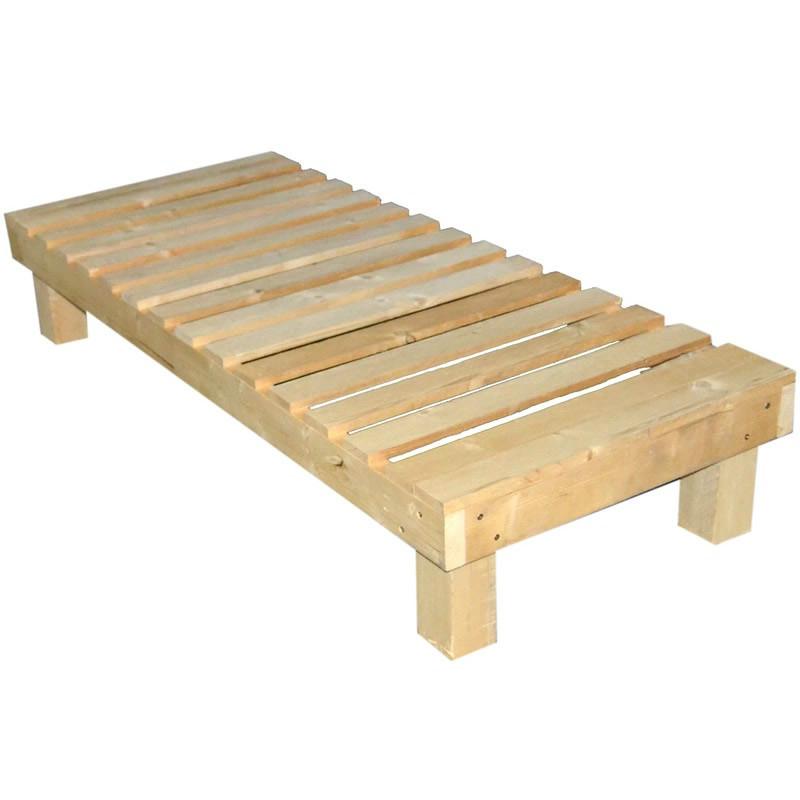 Cama chil out madera rustica casaytextil for Sofa cama para exterior