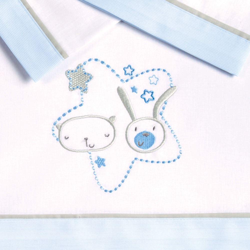 Pekebaby S/ábana Bajera ALGOD/ÓN Cuna 60 x 120 cm azul