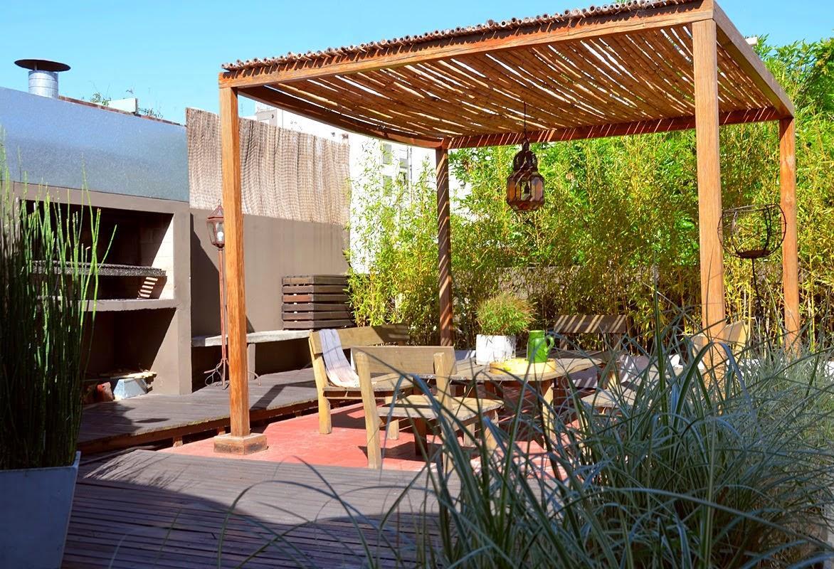 C mo decorar tu terraza y ser la envidia de tus vecinos - Como hacer un toldo para pergola ...
