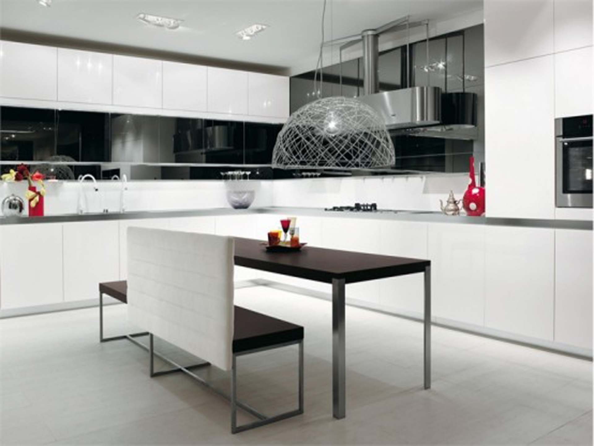 Cocinas Decoradas En Blanco Cocinas Blancas Negras